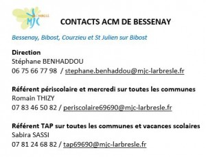Contacts ACM Bessenay